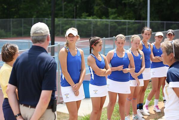 Western girls tennis beats Lafayette 2014