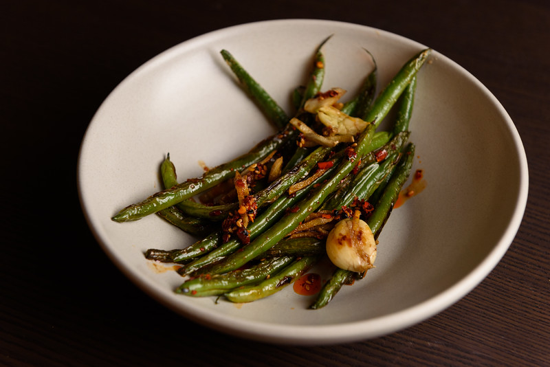 green beans with sichuan chili crisp