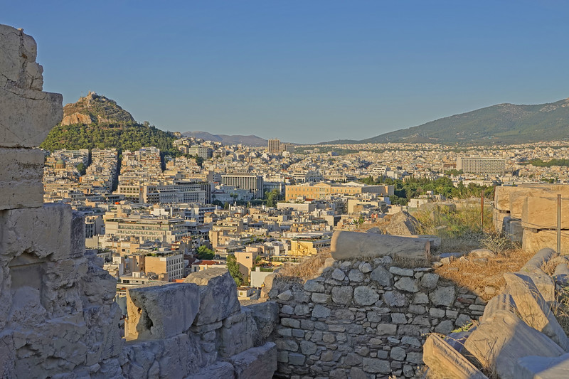Athens, a view from the acropolis