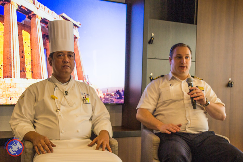 Executive Chef Orley and Culinary Operations Manager, Wessel Van Oorschot Sharing Information at a Coffee Chat (©simon@myeclecticimages.com)