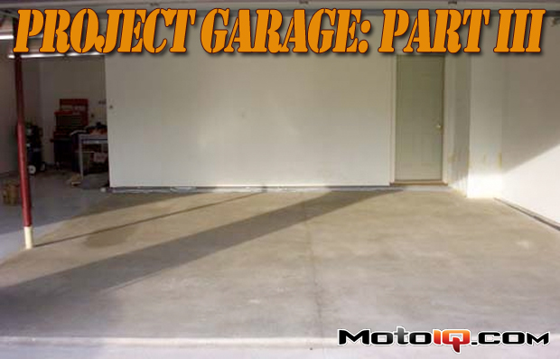 Project garage part 3, painting the floor with epoxy