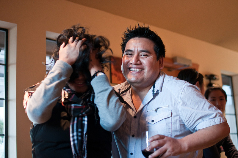 2012.10 - Chad's birthday: wine tasting in Prosser, WA. Hair!