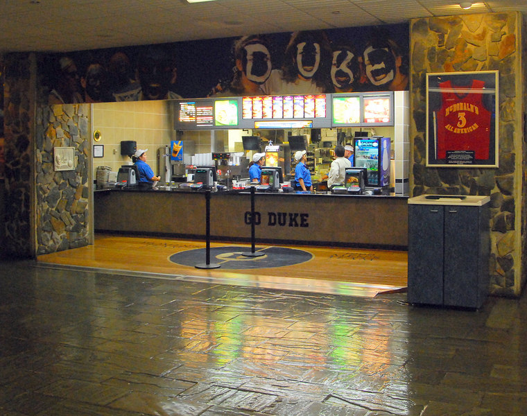 This is a McDonald's inside of the Bryan Center, which is the student untion.