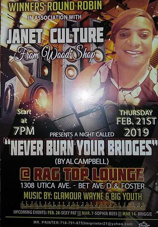 """JANET CULTURE """"NEVER BURN YOUR BRIDGES""""(0)"""