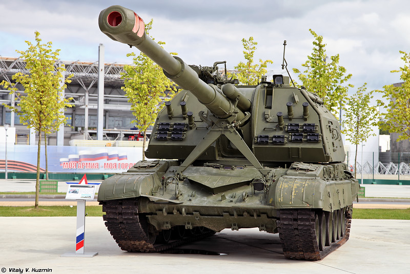 2С19 Мста-С (2S19 Msta-S self-propelled artillery)
