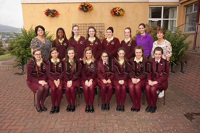 The Rights RespectingSchool Council promotes and represents the student voice throughout the school. They are  proactive student leaders who thrive on opportunities to liaise with other student groups and encourage them to take active roles in the life of the school. Also pictured are Denise Crawley, Meabh Murray and Margo Cosgrove. R1538003