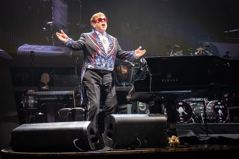Elton John at the Allstate Arena on February 15