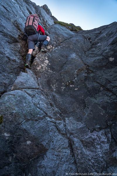 Climbing up Mt Pegasus