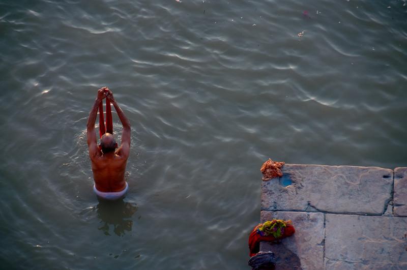 Bathing in the Ganges, Varanasi, India