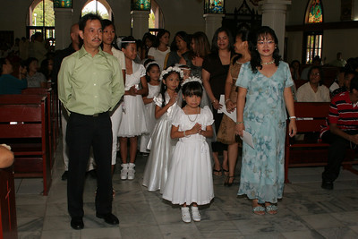 MCS Communion Procession with Family