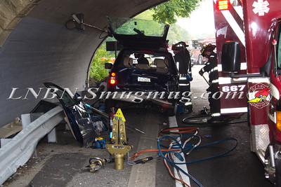 North Massapequa F.D. Auto Accident SSP. at Exit 31 5-13-12