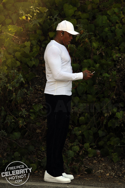 Dr. Dre Builds Up Epic Sweat Wearing Headphones During Workout in LA