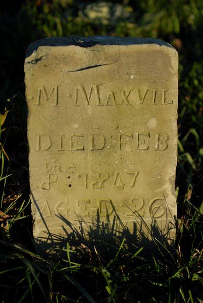 M Maxvil feb 1847 tombstone.jpg