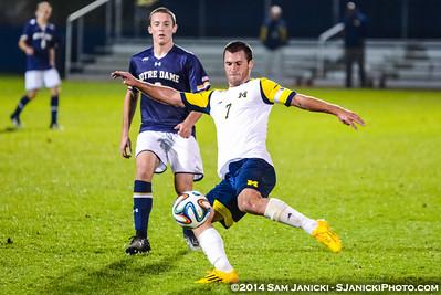 Best of UM Men's Soccer Vs Notre Dame 10-7-14