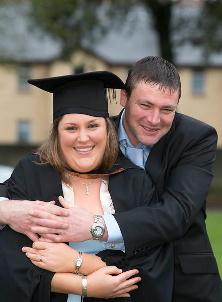 Pictured are Claire McCarthy and Luke Morgan both from Cork who were just engaged to be married. Claire graduated in B.Sc. Honors Intellectual Disability Nursing. Picture: Patrick Browne
