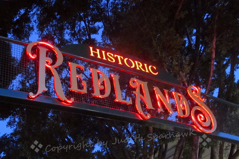 Historic Redlands Sign - Judith Sparhawk
