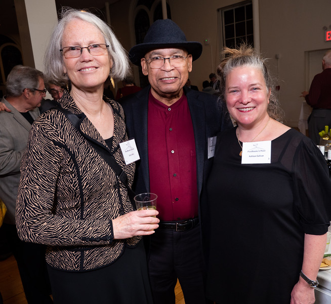 Peace champions from Peace Action NYS, left to right: Sally Jones, David Jones and Kathleen Sullivan.
