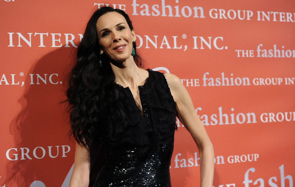". Lord and Taylor Fashion Oracle Award honoree, designer L\'Wren Scott attends the 29th Annual ""Night Of Stars\"" presented by The Fashion Group International at Cipriani Wall Street on Thursday Oct. 25, 2012 in New York. (Photo by Evan Agostini/Invision/AP)"