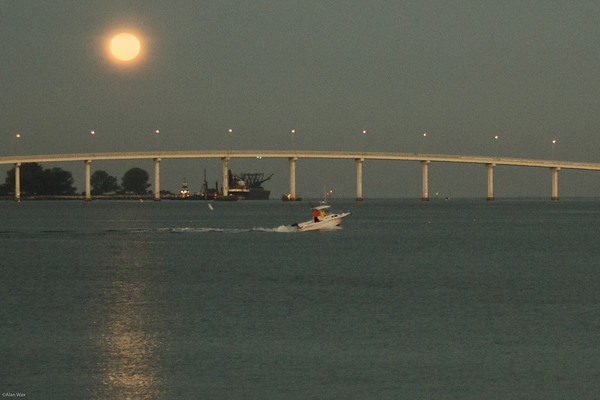 Sandy Key Bridge Moon Set
