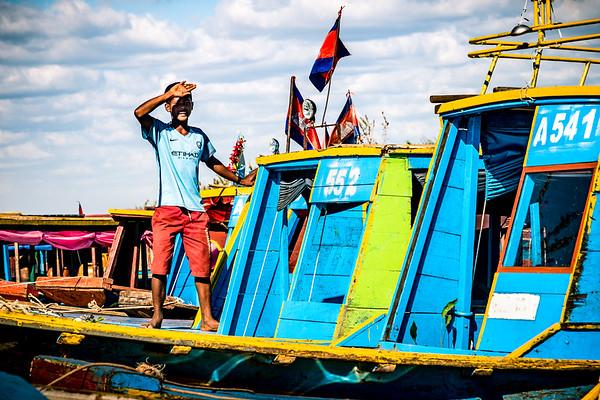 The floating village, Kampong Phluk