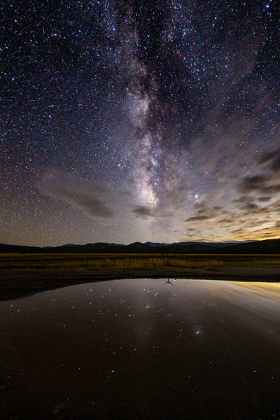 Milky Way and Stars Reflecting On Lake Kevin