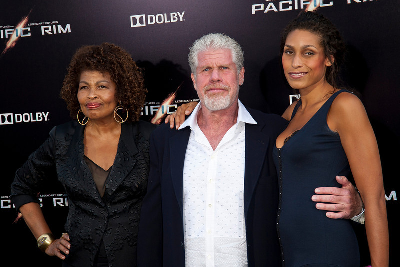 HOLLYWOOD, CA - JULY 09: Actor Ron Perlamn, wife Opal and daughter Blake arrive at the premiere of Warner Bros. Pictures' and Legendary Pictures' 'Pacific Rim' at Dolby Theatre on Tuesday, July 9, 2013 in Hollywood, California. (Photo by Tom Sorensen/Moovieboy Pictures)