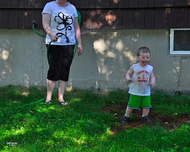 Joshua and the hose - June 2010
