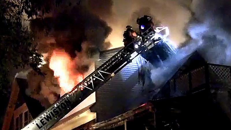 3-alarm fire in Lewiston.m4v