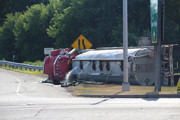 Tanker Rollover - Rt. 9 Ramps and Frontage Rd., Berlin, CT  7/31/2020
