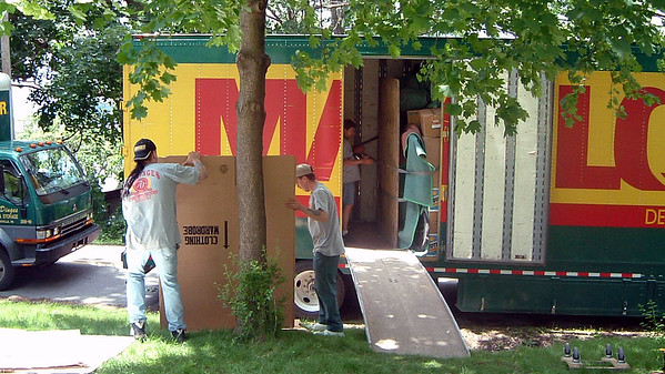 June 9, 2003:  Moving day has arrived .  .  .