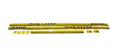 JOHN DEERE 6506 SERIES BONNET DECAL SET