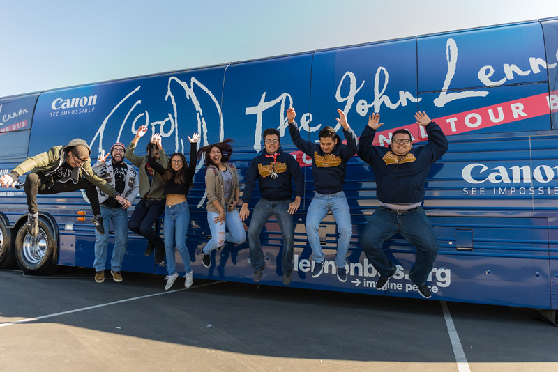 2016_01_26, Pomona, CA, Garey High School, canon, students, exterior, bus, jump shot, Gabe, Luke,