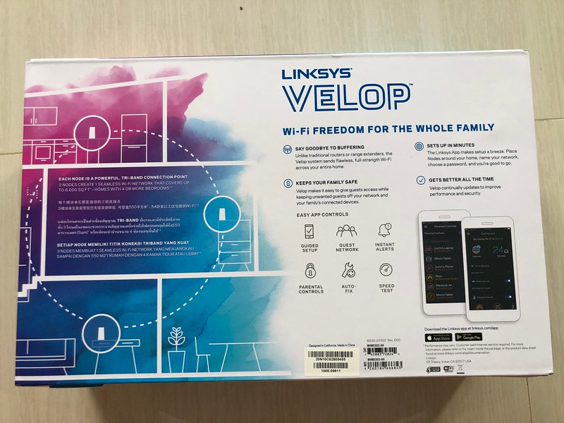 Linksys Velop Whole-Home Mesh Wi-Fi System (3-pack)