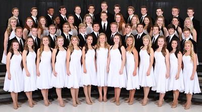 2014-15 Yearbook Choir formal groups