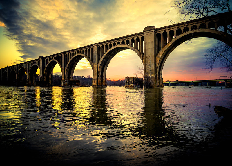 Rail Bridge Over the James River - Richmond Virginia