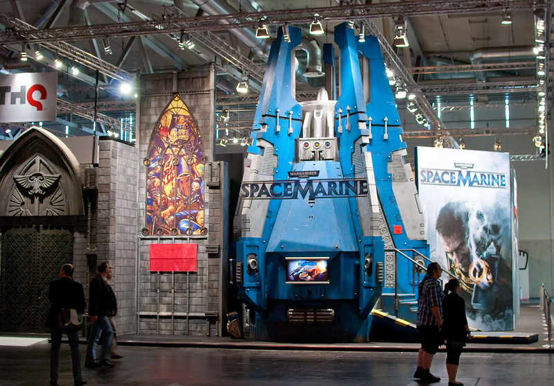 Space Marine booth at GamesCom 2011