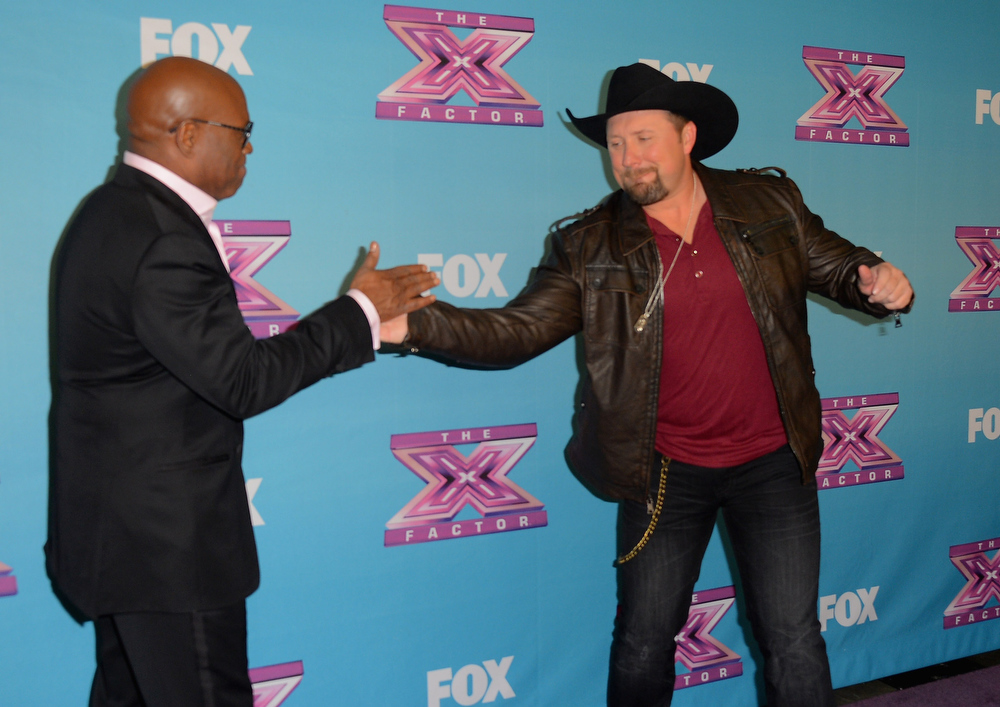 ". Producer L.A. Reid and season 2 winner Tate Stevens celebrate at Fox\'s ""The X Factor\"" Season Finale - Night 2 at CBS Televison City on December 20, 2012 in Los Angeles, California.  (Photo by Frazer Harrison/Getty Images)"