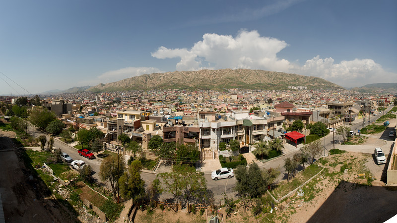 Upmarket homes in Eastern Duhok, the capital of the Duhok Governorate in Iraqi Kurdistan.