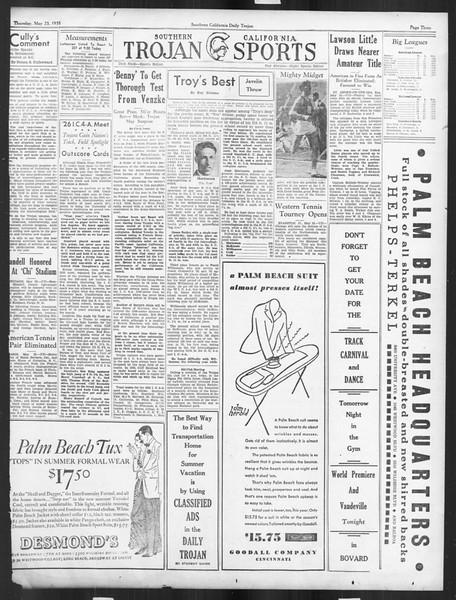Daily Trojan, Vol. 26, No. 143, May 23, 1935