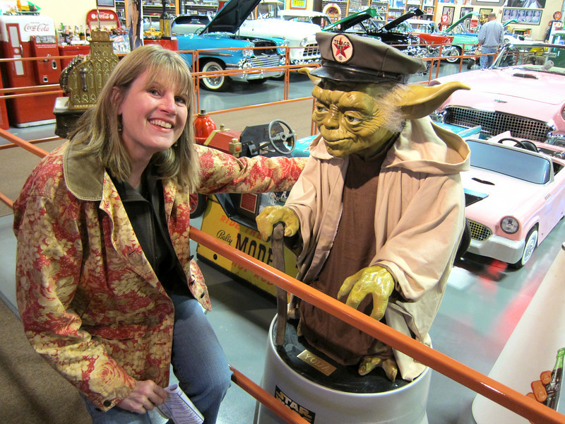 What's stranger than a classic car museum in the middle of nowhere? A statue of Yoda in the middle of the car museum.
