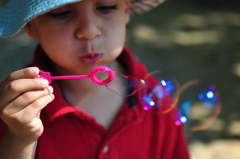 Shail likes his bubbles