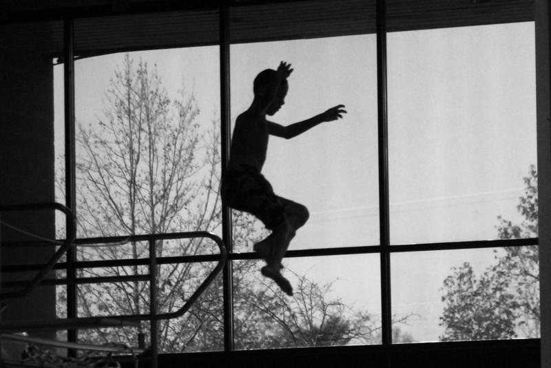 Edward on high dive