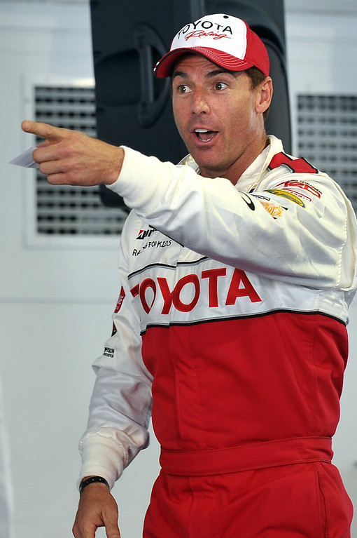 . 4/9/13 - Mark Steines reacts after drawing his car number during media day for the 39th Annual Toyota Grand Prix of Long Beach. The celebrity/pro races spent the day practicing on the track, joking with their racing partners and giving interviews. Photo by Brittany Murray / Staff Photographer