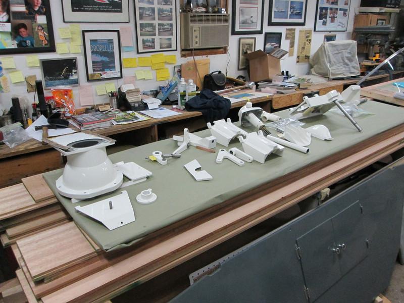 Pump nozzel parts painted ready to assemble.