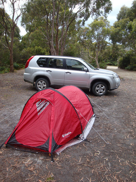 We camped at remote Jetty Beach.