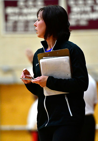 11/14/2018 Mike Orazzi | Staff Bristol Eastern's Stacy Rivoira during the Class L Semifinal State Girls Volleyball Tournament with Woodstock Academy held at Windsor High School Wednesday night.