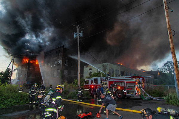 Shelton Canal St Multi alarm mill complex