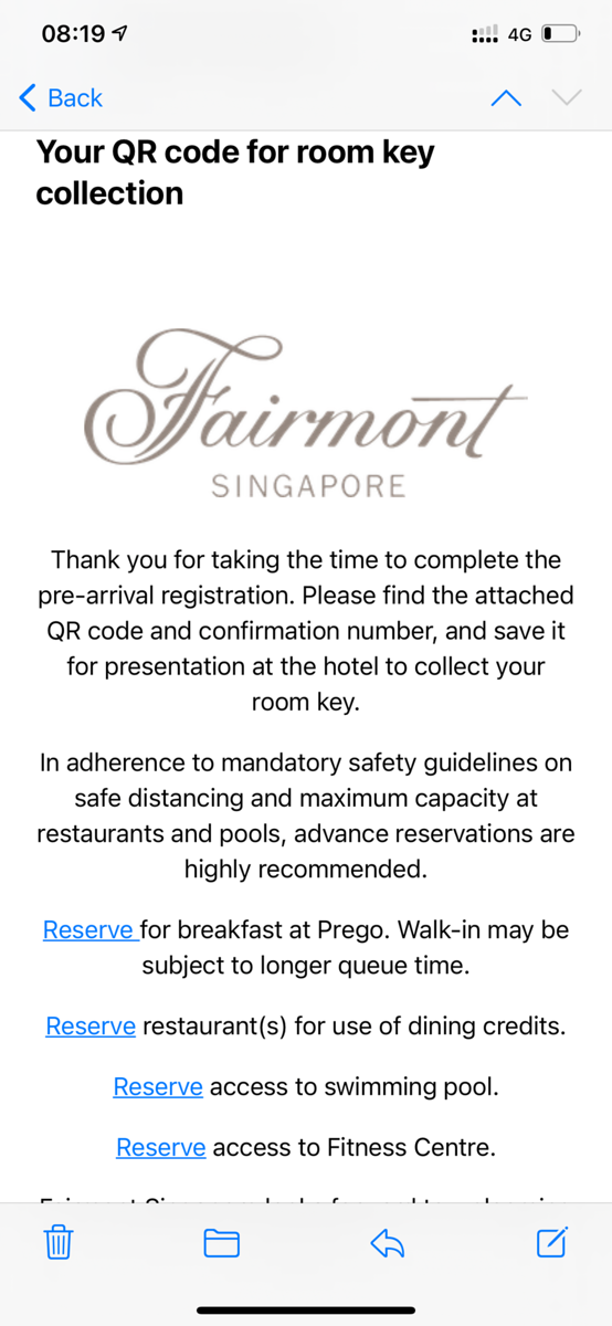 Booking Facilities and Dining