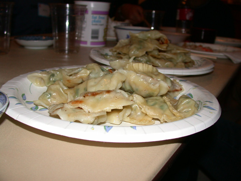 our cooked gyoza