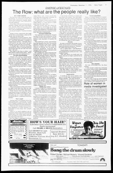 Daily Trojan, Vol. 67, No. 56, December 11, 1974